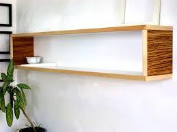 Modern Wall Decor for Home or Office White Maple Yellow Brown Zebra Stripes  Modular Book Shelf