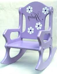 personalized child s white rocking chair baby encourage toddler chairs