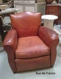 antique art deco mens office leather club armchair