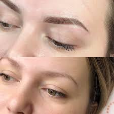 фото татуажа бровей зажившие брови до и после процедуры