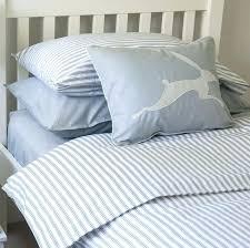 ticking stripe duvet cover red ticking stripe blue grey toddler cot bed duvet set grey ticking