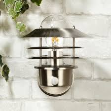 nellie outdoor wall light with pir sensor stainless steel