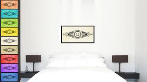Alphabet Letter Q White Canvas Print, Black Custom Frame