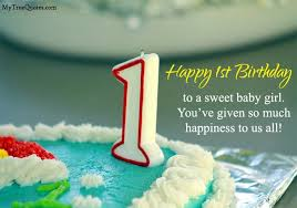 Image result for 1 st girl happy birthday images