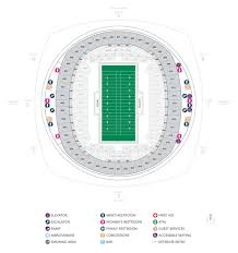 Seating Chart Superdome New Orleans Football Seating Charts Mercedes Benz Superdome