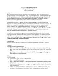 essay problem solution essay assignment rough draft due