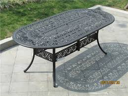 100 metal garden furniture outside