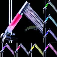 led light 7 color change water saving shower head