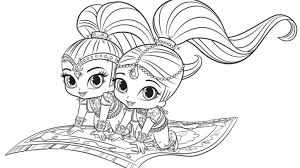 Shimmer And Shine Coloring Pages Free Printable