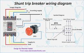 shunt trip circuit breaker wiring diagram bestharleylinks info circuit breaker diagram for 1977 harley fxs at Circuit Breaker Diagram