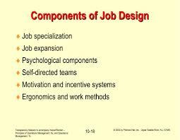 Principles Of Job Design Ppt Operations Management Human Resources And Job Design