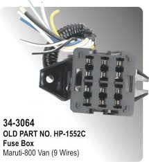 fuse box maruti 800 car mpfi with flasher box (23 wires) (hp 34 Santro Xing Electrical Wiring Diagram fuse box maruti 800 van (9 wires) (hp 34 santro xing wiring diagram