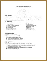 Simple Resume Sample Without Experience Svoboda2 Com