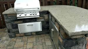outdoor options custom concrete grill countertop kitchen