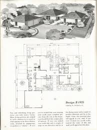 mid century modern floor plans new 1960 ranch house plans vintage house plans 1960s homes mid