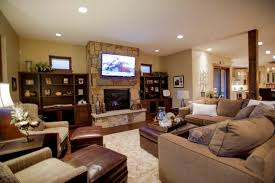living room designs with fireplace and tv. Leather Ottoman Coffee Table With Exclusive Stone Fireplace And Modern TV For Traditional Living Room Ideas Dark Wooden Bookcase Designs Tv G