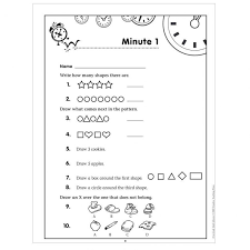 Math Minutes First Grade Minute Worksheets 7th Ctp2583 Ins ~ Koogra