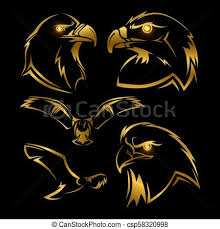 golden eagles mascot. Wonderful Mascot Golden Eagle Hawk Vector Mascots Set Throughout Eagles Mascot E