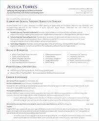 Substitute Teacher Resume Amazing Sample Substitute Teaching Resume Teacher Example Examples Of