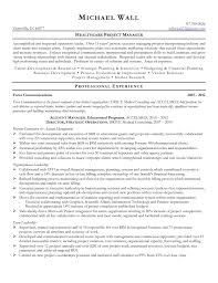 Resume For Entrepreneurs Examples Healthcare Management Resume