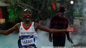 British track star Mo Farah's stunned, elated face after... Photo ... via Relatably.com