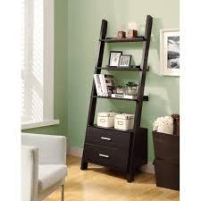 leaning wall bookshelf short ladder bookshelf leaning ladder shelves