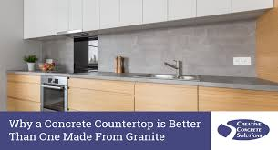 why a concrete countertop is better than one made from granite creative concrete