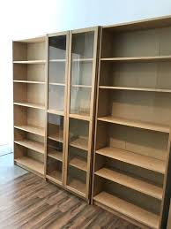 ikea wooden bookcase billy bookcase bookcases bookcase with glass doors birch libraries office ikea wooden bookshelves uk
