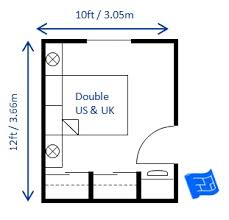 Amazing Small Bedroom Design Double 10 X 12ft ...