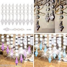 10 pcs acrylic crystal beads garland chandelier hanging wedding party decor