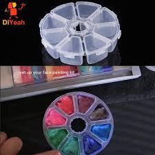 2 pcs face painting kit makeup set tool maquillage storage box small plastic box pp paint