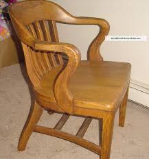 antique oak office jury court bankers chair vintage 1900 1950 photo antique wood office chair