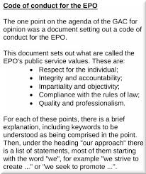Raw: How And Why The Epo Code Of Conduct (Coc) Came About | Techrights