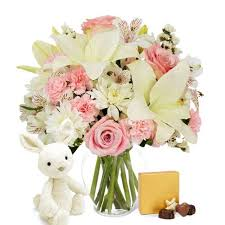 flower delivery with inexpensive chocolate gifts and stuffed delivery