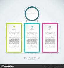 Abstract Infographic Chart With 3 Tabs Stock Vector
