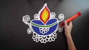 Easy Diya Rangoli Designs For Diwali Easy Diya Rangoli Designs For Diwali Diwali Festival Diya Rangoli Deepawali Rangoli Rangoli