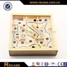 Wooden Maze Game With Ball Bearing Wood Ball Bearing Maze Game Handheld Maze Game Labyrinth Toys 66