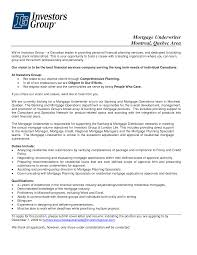 Mortgage Underwriter Resume Template Sample Job And Cover L Sevte