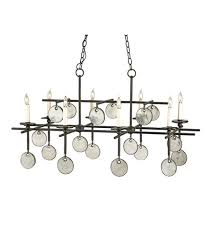 currey company 9124 sethos 8 light 30 inch old iron recycled glass chandelier ceiling