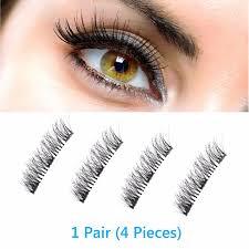 magnetic eyelashes false 4pcs pair magnetic 3d eyelashes double handmade natural false long eye