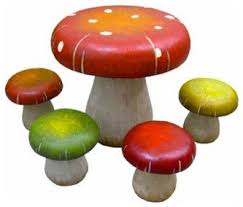 alice in wonderland furniture. patio furniture table and chair sets toadstool mushrooms a touch of unique fantasy design outdoor for garden terrace in the alice wonderland