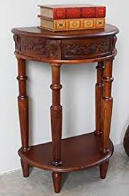 half moon console table. Hand Carved Wood Half-Moon Console Table Half Moon