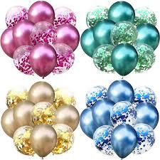 <b>10pcs</b>/lot <b>12inch</b> Glossy <b>Metal Latex</b> Balloon Glitter Confetti Baloons ...