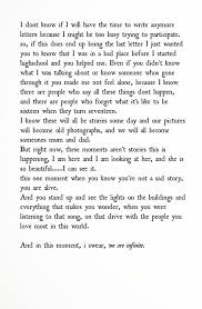 charlies last letter the perks of being a wallflower quotes one of my favorite books perks of being a wallflower