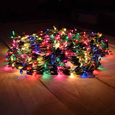 600 Multi-Color Cluster Garland Light Set - Green Wire