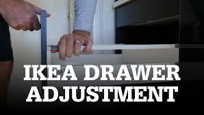 adjust ikea drawers