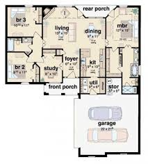 3 bedroom 2 bath house. #654180 - 3 bedroom 2 bath french house plan : plans, floor plans b