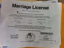 Resultado de imagen de licencia de matrimonio