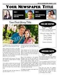 Wedding Invitation Newspaper Template Free Newspaper Templates Print And Digital Wedding Impact