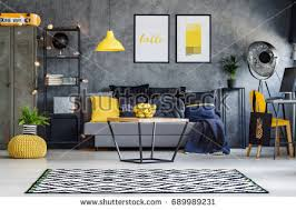 yellow furniture. Optimistic Teenager\u0027s Room With Gray Wall, Furniture And Yellow Accents R